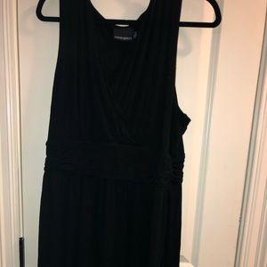 black empire waist dress